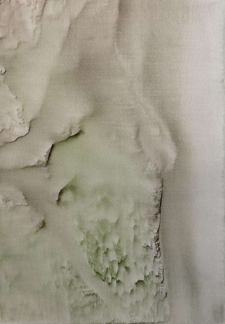 Christo Daskaltsis Abstract Painting - 0420-02 - Painting, Aluminium, Acrylic, Abstract, 21st Century, Beige, Sand