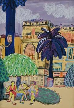 Rapallo Italia - drawing, illustration, young artist, german, korean, colourful