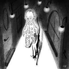 Day 7 - illustration, black and white, narrative, digital print, contemporary