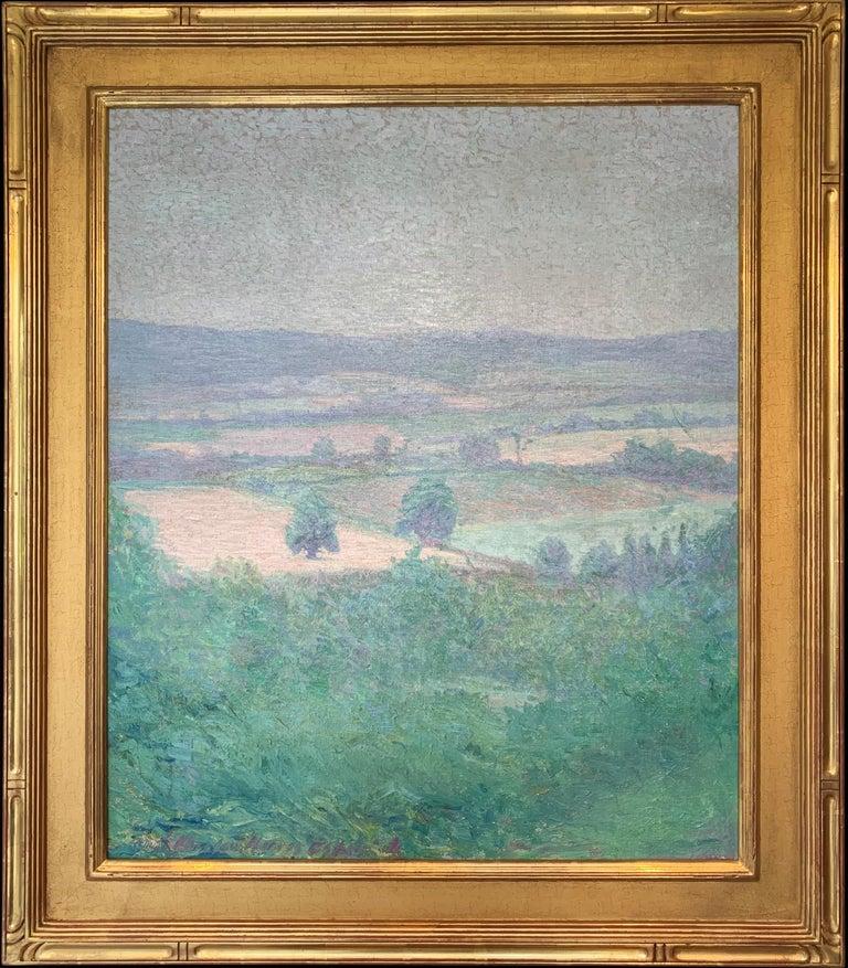 Wharton Esherick Landscape Painting - Pennsylvania Landscape, American Impressionist Painting, Oil on Canvas, Framed