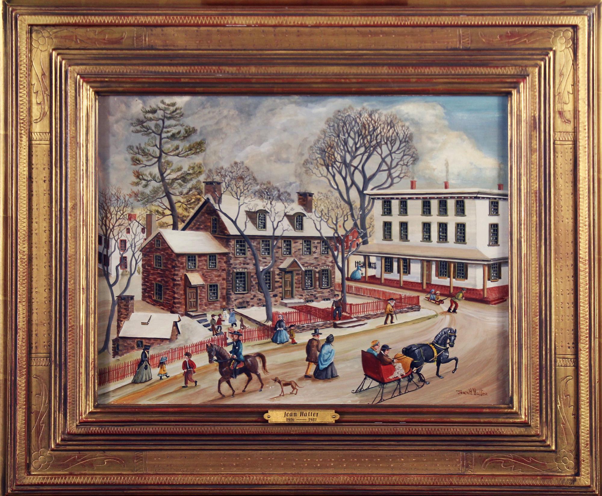 Parry Mansion, New Hope Pennsylvania, Folk Art, Regional American Town Scene