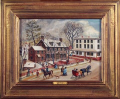 Parry Mansion, New Hope Pennsylvania, Folk Art, Regional American Town Scene