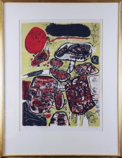 Le Soleil Rouge, Abstract Limited Edition Print 11/200, 1963, Signed and Dated