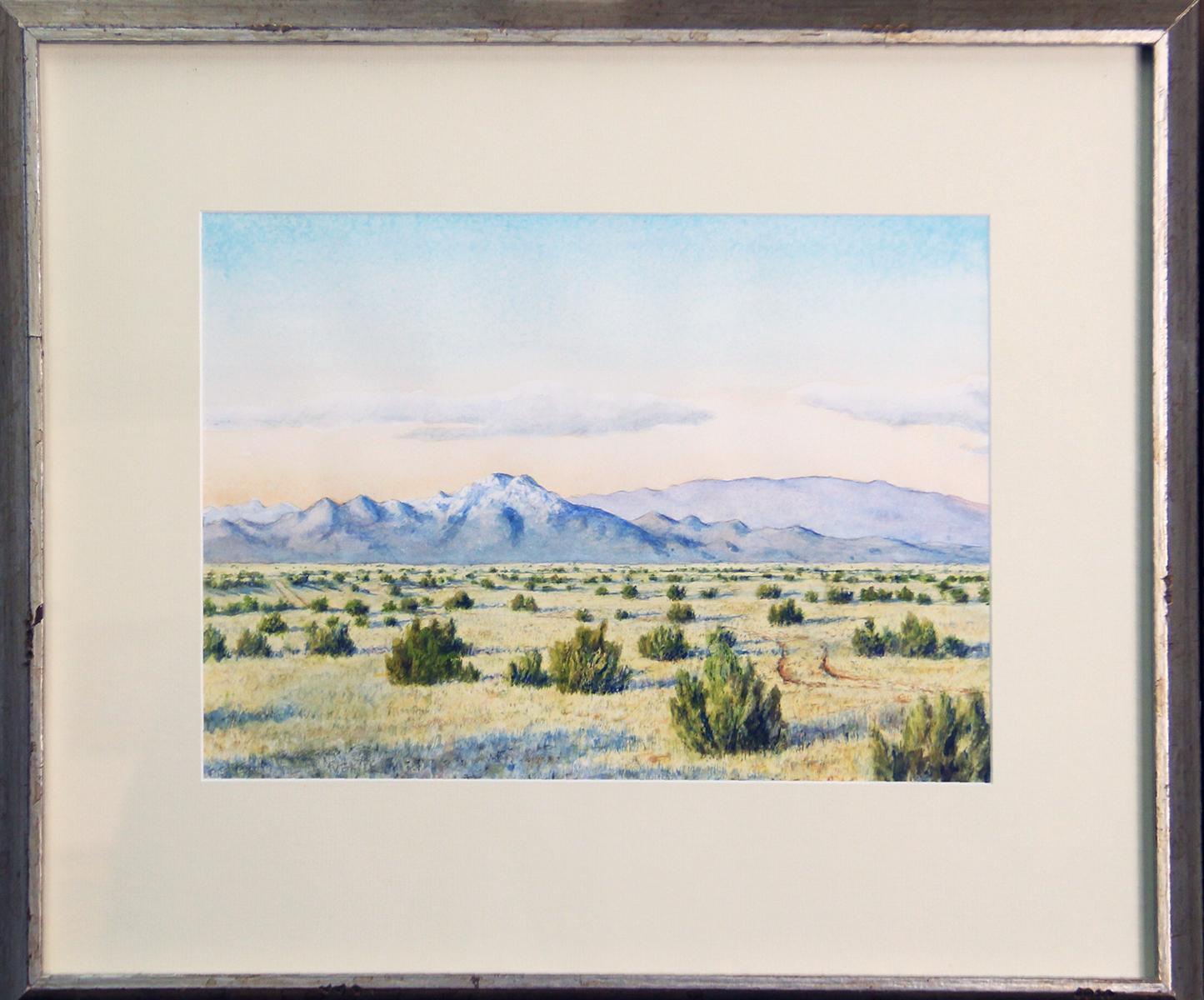 Near Pueblo Canyon, Los Alamos County, New Mexico, Watercolor on Paper Landscape