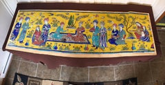 Persian Tile Mural, In Style of the Safavid period, Qajar period, Reproduction