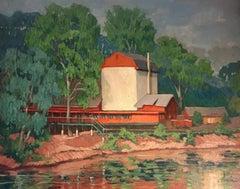 Bucks County Playhouse, American Impressionist Landscape, New Hope, PA, 2019