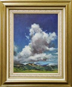 """Monumental"", Landscape with Clouds, American, Bucks County En Plein Air Painter"