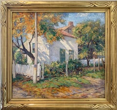 Sunlight and Shadow, White House, American Impressionist Landscape