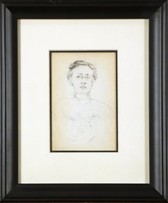 Two Portraits, American Impressionist, Double Sided Drawings on Paper, 1899