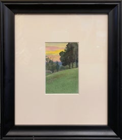 Landscapes, American Impressionist, Double Sided Color Drawings on Paper, 1899