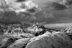 Badlands 23 by Clyde Butcher. Silver gelatin landscape photograph.
