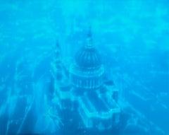 Blue St. Martins (London) by Jenny Pockley. Original cityscape oil painting.