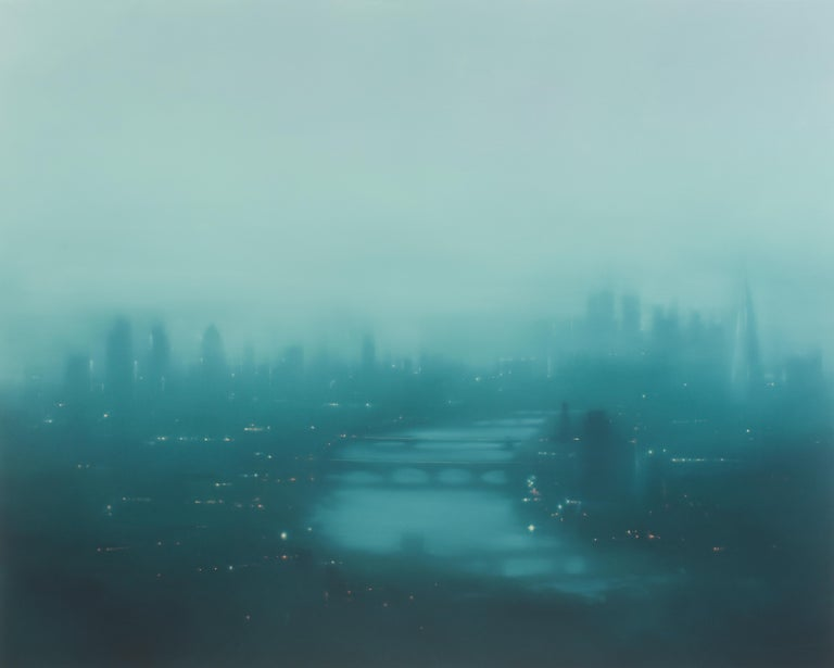 Jenny Pockley (b. 1972, United Kingdom) Green Thames, 2019 Original oil on gessoed canvas 47.25 x 59 inches 120 x 150 centimeters Hand signed   A graduate of the Royal Academy in London, Jenny Pockley's work has been exhibited in London, Paris, New