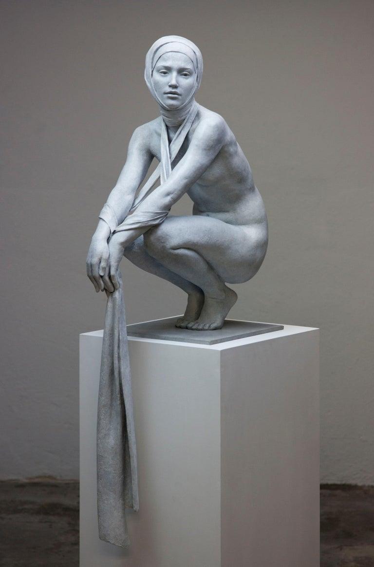 Coderch & Malavia. The Tissue of Time. Bronze figurative sculpture.  - Sculpture by Coderch & Malavia
