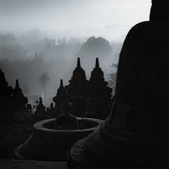 Hengki KOENTJORO. Borobudur Temple, Central Java, Indonesia b&w photograph