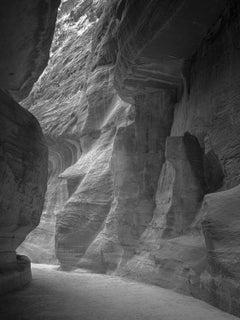 Hengki KOENTJORO. Petra Passage 01 - Petra, Jordan. b&w photograph