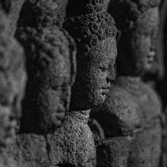 Hengki KOENTJORO. Buddha 01 Borobudur Temple,Java, Indonesia b&w photograph