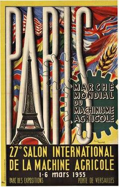 Paris 27th Salon International original vintage poster