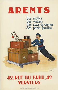 Arents original French vintage poster