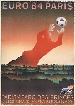 Euro 84 Paris original World Cup French vintage poster