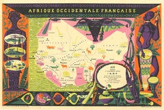 Original Afrique Occidentale - Africa horizontal vintage poster