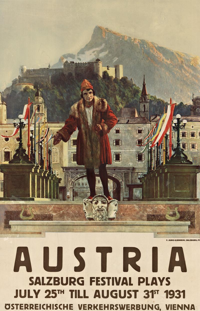 Austria Salzburg Festival original vintage poster