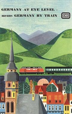 Germany at Eye Level original German vintage travel poster