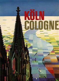 Koln Cologne (Germany) original vintage travel poster
