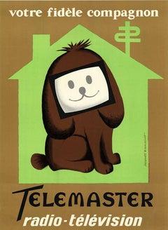 Telemaster Radio - Television original vintage poser