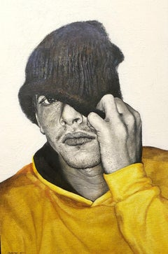 Eyes That Do Not See, oil painting, Realist Style of young Cuban