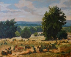 On Comanche Hills Ranch, Texas landscape, oil painting,  Texas Hill Country