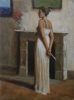 The Evening Gown, American Impressionistic Painter, Oil Painters of America
