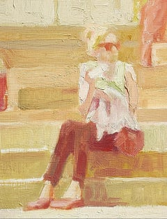 Daylight, energetic paintings, sense of motion, figurative,urban landscapes