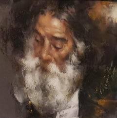 The Wise Man II, Portrait Painting, Ramon Kelley, Southwest Art, oil painting
