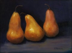 Three Pears    Painted in the Style of Realism, Oil Texas Artist