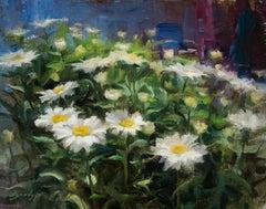 Summer Daisies, floral paintings, S.W. Art 21 under 31  artist, Representational