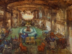 The Peabody, American Impressionism,  Oil Painters of America Interior Scene