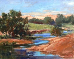 Quiet Place , oil painting, American Expressionism style ,Texas Artist,