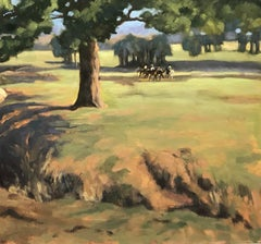 Morning Ride , Texas landscape, oil painting,  Texas Hill Country
