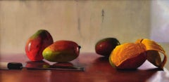 Mangoes oil painting on linen,  painted in Realism style, American Realist