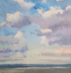 Sky ,Texas landscape oil painting, Contemporary Impressionistic style