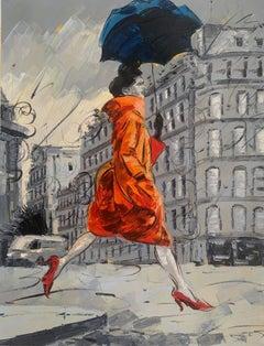 Coco in Paris I . Impressionism Style, Cuban artist