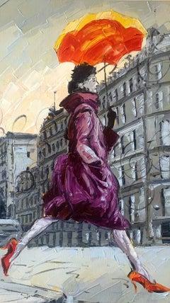 Coco in Paris II. Impressionism Style, Cuban artist.European setting