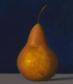 Bosc Pear, oil painting, American Realism, Still-life, small painting