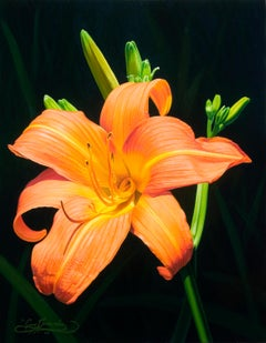 Monika's Lilies American Realist painter, floral painting, Representational