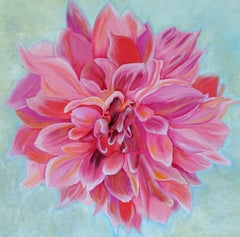 Dahlia, floral painting, Realism, Texas artist, Still-life