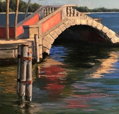 The Old Bridge,Water & Landscape paintings, beauty of nature,American Dream