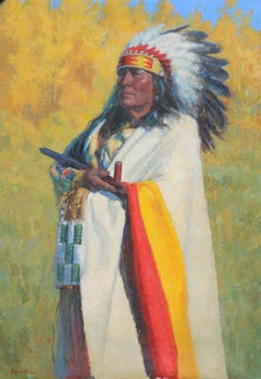 A New Season.,  Native American Indian, oil painting , Texas Artist, Western Art