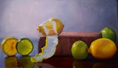 Citrus ,oil painting ,still-life , Realism style, American Realist painter
