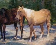 On the Move, S.W. Art 21 under 31  artist, Representational, Horses, oilpaint